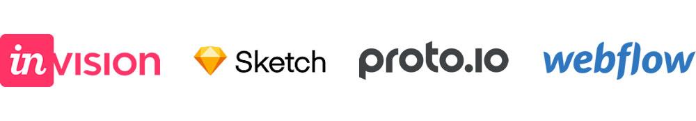 Prototyping software logos